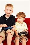 Boys Playing Video Games Stock Photo - Premium Rights-Managed, Artist: SimplyMui, Code: 700-02833649