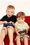 Boys Playing Video Games Stock Photo - Premium Rights-Managed, Artist: SimplyMui, Code: 700-02833650