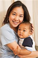 southeast asian - Portrait of Mother and Baby Boy Stock Photo - Premium Royalty-Freenull, Code: 600-02833797