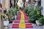 Colourful Stairs in Calpe, Costa Blanca, Alicante, Spain Stock Photo - Premium Rights-Managed, Artist: Jochen Schlenker, Code: 700-02833911