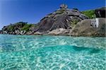 Clear water and island. Stock Photo - Premium Royalty-Freenull, Code: 614-02837608