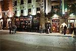 Pubs at Night, Temple Bar, Dublin, Ireland