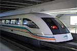 Magnetically levitated (Maglev) train, Shanghai Stock Photo - Premium Rights-Managed, Artist: Asia Images, Code: 849-02860875