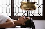young woman having Ayurvedic spa treatment Stock Photo - Premium Rights-Managed, Artist: Asia Images, Code: 849-02862627