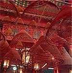 Spiral incense in Man Mo Temple, Central, Hong Kong Stock Photo - Premium Rights-Managed, Artist: Asia Images, Code: 849-02864358