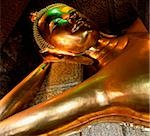 Thailand, Bangkok, Wat Po, reclining Buddha statue