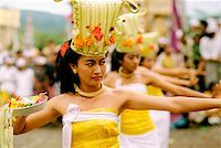 Indonesia, Bali, Kintamani, Performers during Rejang Dance Stock Photo - Premium Rights-Managednull, Code: 849-02866243