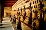 Laos, Vientiane, A row of stone Buddha statues in a hall of Wat Si Saket Stock Photo - Premium Rights-Managed, Artist: Asia Images, Code: 849-02866263