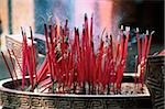 Malaysia, Penang, Joss sticks in temple urn Stock Photo - Premium Rights-Managed, Artist: Asia Images, Code: 849-02866323