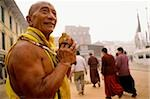 Nepal, Boudhanath, prostrator making his rounds Stock Photo - Premium Rights-Managed, Artist: Asia Images, Code: 849-02866333
