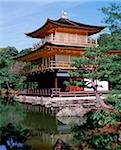 Japan, Kyoto, The Golden Pavilion at Kinkaku-ji Temple. Stock Photo - Premium Rights-Managed, Artist: Asia Images, Code: 849-02866519