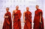 Myanmar (Burma), Yangon (Rangoon), Buddhist monks at Independence Monument in Yangon, formerly Rangoon. Stock Photo - Premium Rights-Managed, Artist: Asia Images, Code: 849-02866900