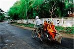 Myanmar (Burma), Yangon (Rangoon), Monks relying on bicycles for transportation. Stock Photo - Premium Rights-Managed, Artist: Asia Images, Code: 849-02866914