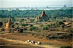 Myanmar (Burma), Bagan, Villagers in ox drawn carts along dirt roads with temples in backgrounds Stock Photo - Premium Rights-Managed, Artist: Asia Images, Code: 849-02867014