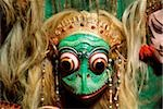 Indonesia, Bali, Balinese masks carved by I. B. Sutarja. Stock Photo - Premium Rights-Managed, Artist: Asia Images, Code: 849-02867051