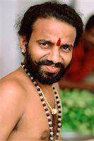 Singapore, Little India, Bearded Hindu devotee, portrait. Stock Photo - Premium Rights-Managednull, Code: 849-02867099