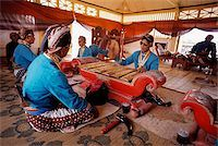 Indonesia, Yogyakarta, Sekaten Festival, Gamelan players at Sultan's mosque (Mesjid Agung). Stock Photo - Premium Rights-Managednull, Code: 849-02867252