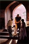 Pakistan, Punjab, Lahore, Wazir Khan Mosque, Women and child at entrance of mosque. Stock Photo - Premium Rights-Managed, Artist: Asia Images, Code: 849-02867461