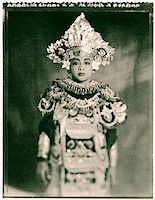 Indonesia, Bali, Amlapura, Baris dancer in full costume. Stock Photo - Premium Rights-Managednull, Code: 849-02867603