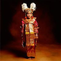 Indonesia, Bali, Ubud, Legong dancer in full costume. Stock Photo - Premium Rights-Managednull, Code: 849-02867631