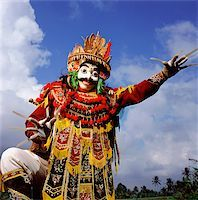 Indonesia, Bali, Ubud, Mask (Topeng) dancer performing. Stock Photo - Premium Rights-Managednull, Code: 849-02867634