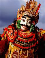 Indonesia, Bali, Ubud, Mask (Topeng) dancer performing. Stock Photo - Premium Rights-Managednull, Code: 849-02867636