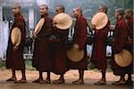 Myanmar (Burma), Bago, Buddhist monks in line to collect alms. Stock Photo - Premium Rights-Managed, Artist: Asia Images, Code: 849-02867893