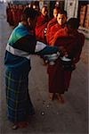 Myanmar (Burma), Inle lake, Buddhist monks receiving alms. Stock Photo - Premium Rights-Managed, Artist: Asia Images, Code: 849-02868000