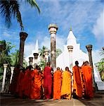 Sri Lanka, Mihitale, Ambasthala Dagoba, Monks praying in foreground Stock Photo - Premium Rights-Managed, Artist: Asia Images, Code: 849-02872102