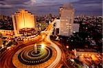 Early evening view of the Hotel Indonesia roundabout, Welcome monument and buildings along Jalan Thamrin, Jakarta Stock Photo - Premium Rights-Managed, Artist: Asia Images, Code: 849-02877919