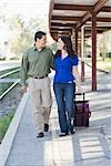 Couple at Train Station Stock Photo - Premium Rights-Managed, Artist: Kevin Dodge, Code: 700-02883124