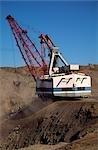 Black Coal Mining, Removing Overburden, Open Cut Mine