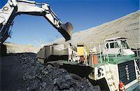 Black Coal Mining, Loading Coal Trucks, Australia Stock Photo - Premium Royalty-Freenull, Code: 600-02886599