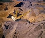 Black Coal Mining, Dragline Removing Overburden, Australia