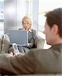 Business People Waiting in Airport Lounge Stock Photo - Premium Rights-Managed, Artist: Bob Devan, Code: 700-02887164