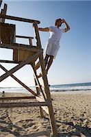 Lifeguard at Beach, Ibiza, Spain Stock Photo - Premium Rights-Managednull, Code: 700-02887485