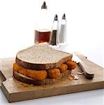 Fish finger Sandwich Stock Photo - Premium Rights-Managed, Artist: foodanddrinkphotos, Code: 824-02887823