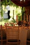 Table laid for party in marquee with glasses and candles. Stock Photo - Premium Rights-Managed, Artist: foodanddrinkphotos, Code: 824-02888013