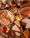 Mixed Cheese, Meats and pate Stock Photo - Premium Rights-Managed, Artist: foodanddrinkphotos, Code: 824-02889625