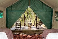 View from the inside of a luxury safari tent, KwaZulu Natal Province, South Africa Stock Photo - Premium Royalty-Freenull, Code: 682-02891040