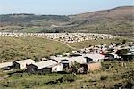 Post-aparthied social housing constructed by the government outside Grahamstown. Eastern Cape Province, South Africa