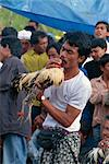 Man with rooster, highly prized fighting birds, Bali, Indonesia, Southeast Asia, Asia Stock Photo - Premium Rights-Managed, Artist: Robert Harding Images, Code: 841-02899050