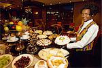 Showing off the evening's spread in Durban, South Africa, Africa Stock Photo - Premium Rights-Managed, Artist: Robert Harding Images, Code: 841-02899166