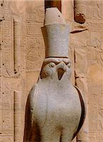egyptian hieroglyphics - Horus statue, Temple of Horus, Edfu, Egypt Stock Photo - Premium Rights-Managednull, Code: 841-02899315