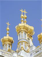 religious cross nobody - Cupolas of the Royal Chapel, Catherine Palace, Pushkin, Russia, Europe Stock Photo - Premium Rights-Managednull, Code: 841-02899601