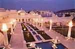 Udai Vilas Oberoi resort hotel, Udaipur Lake, Udaipur, Rajasthan state, India, Asia