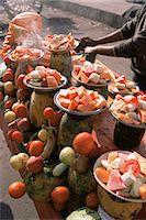 food stalls - Fruit stall, Delhi, India, Asia Stock Photo - Premium Rights-Managednull, Code: 841-02900941