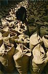Hessian bags full of stem ginger, Cochin, Kerala state, India, Asia Stock Photo - Premium Rights-Managed, Artist: Robert Harding Images, Code: 841-02900975