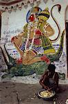 Mural of Hanuman, the Monkey God, Varanasi, Uttar Pradesh state, India, Asia Stock Photo - Premium Rights-Managed, Artist: Robert Harding Images, Code: 841-02900976