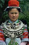 Gejia in festival costume with silver jewellery, Guizhou, China, Asia Stock Photo - Premium Rights-Managed, Artist: Robert Harding Images, Code: 841-02901255